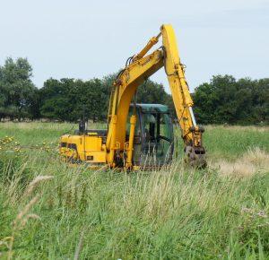 Excavator in Norfolk field